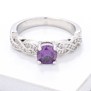 Petite Intertwining CZ Vine Ring - Jewelry Xoxo