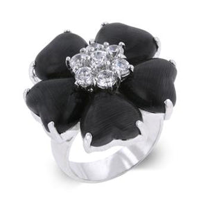 Black Heart Clover Ring - Jewelry Xoxo