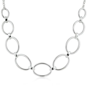 Contemporary Oval Link Necklace - Jewelry Xoxo
