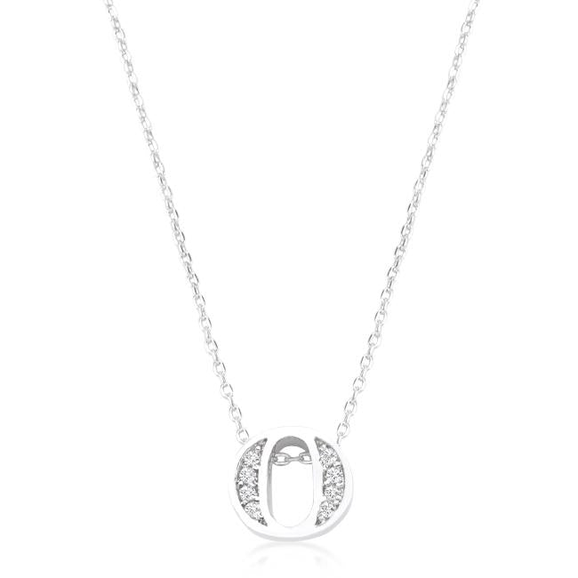 Pave Initial O Pendant
