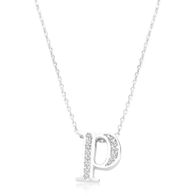 Pave Initial P Pendant