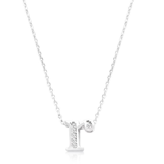 Pave Initial R Pendant