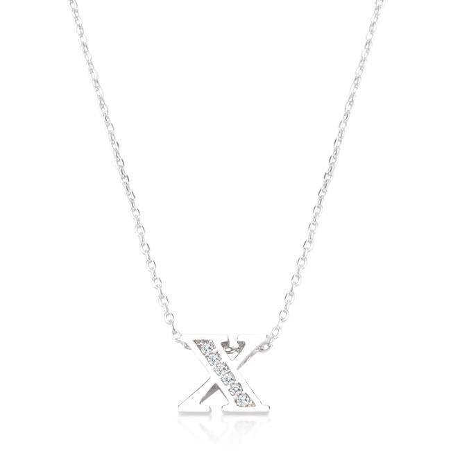Pave Initial X Pendant