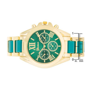 Teal Gold Watch - Jewelry Xoxo