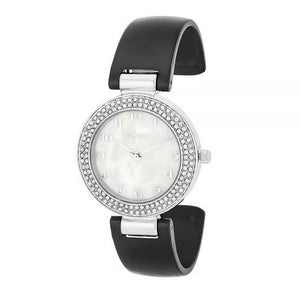 Crystal Watch - Black - Jewelry Xoxo