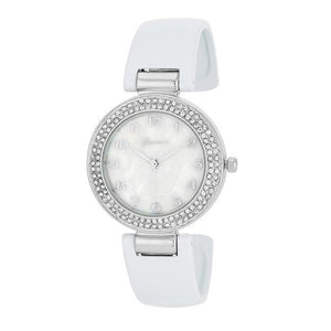 Crystal Watch - White - Jewelry Xoxo