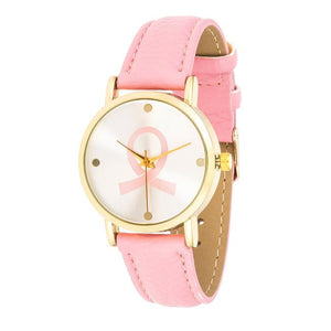 Breast Cancer Awareness Watch with Pink Band - Jewelry Xoxo