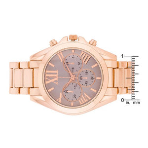 Roman Numeral Rose Gold Watch - Jewelry Xoxo