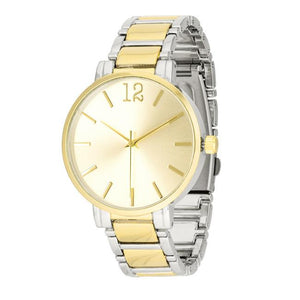 Two Tone Metal Watch - Jewelry Xoxo