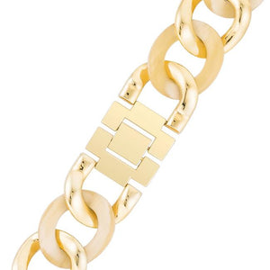 Gold Link Watch with Crystlas - Jewelry Xoxo