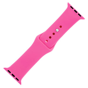 Hot Pink Silicone Sports Watch Band 38mm - Jewelry Xoxo