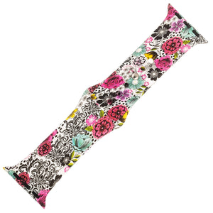 Floral Silicone Sports Watch Band 38mm - Jewelry Xoxo