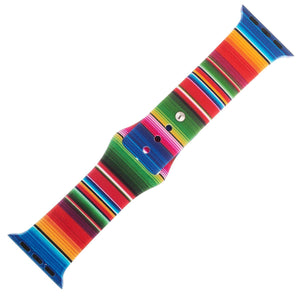 Rainbow Silicone Sports Watch Band 38mm - Jewelry Xoxo