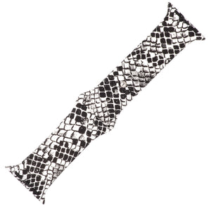 Snake Print Silicone Sports Watch Band 38mm - Jewelry Xoxo