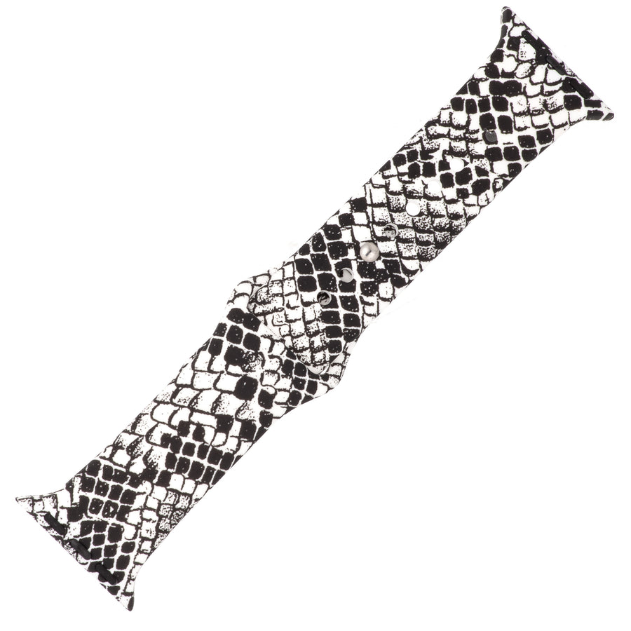 Snake Print Silicone Sports Watch Band 38mm
