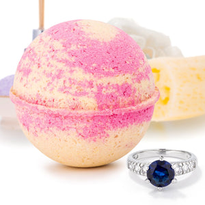 Tropical Grapefruit  Jewelry Bath Bomb - Jewelry Xoxo