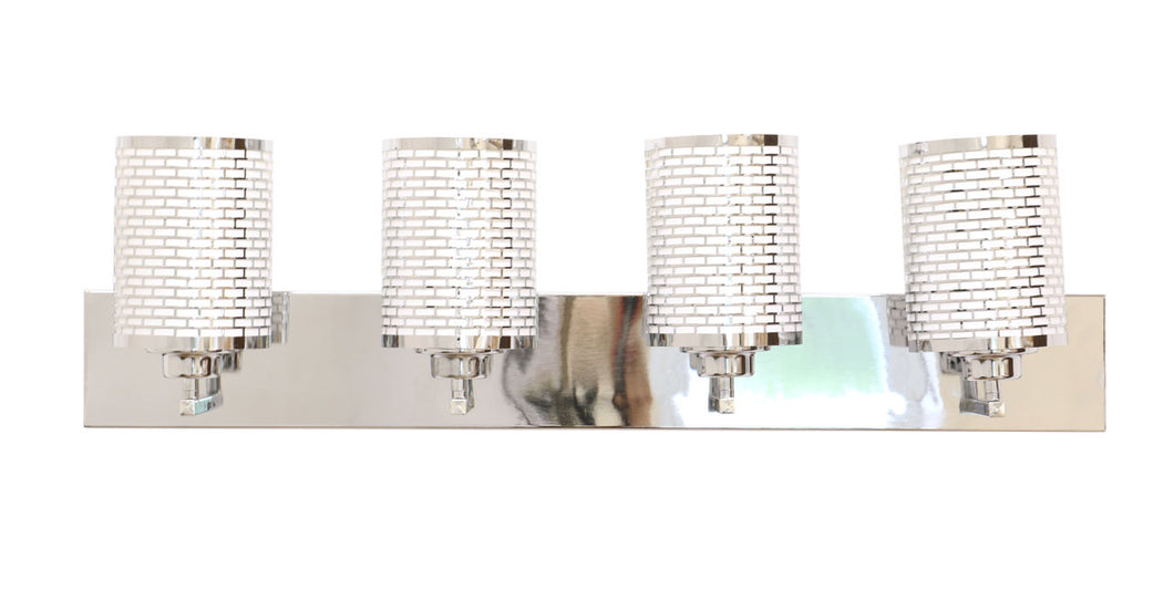 ELH11049M-4 Chrome brick pattern vanity light