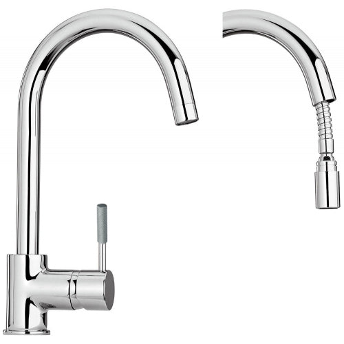 Paini FLUXIO single side lever kitchen faucet