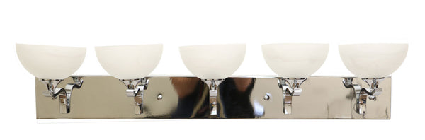 Eurolux chrome contemporary vanity lights set of five lights