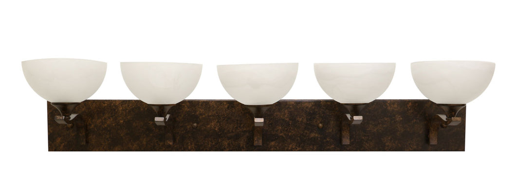 Eurolux dark bronze contemporary vanity lights set of five lights