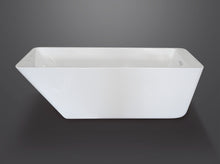 side view Sphene 67 rectangular modern freestanding tub Eurolux