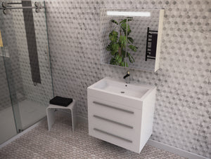 Lyon wall-mounted medicine cabinet with sink basin Eurolux