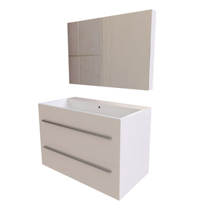 Amiens Wall-Mounted Medicine Cabinet with Basin