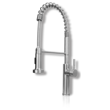 Venice restaurant-style stainless steel kitchen sink faucet Eurolux