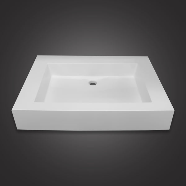 Eurolux above-counter white stone sink basin Begonia