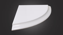 Eurolux white corner stone shelf