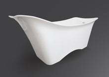 angled view Opal contemporary freestanding tub Eurolux