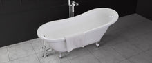 top view Sapphire 140CF clawfoot freestanding tub Eurolux