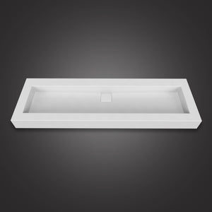 Eurolux above-counter white stone sink basin Orchid