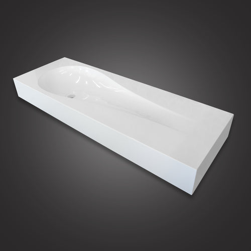 Eurolux above-counter white stone sink basin Tulip