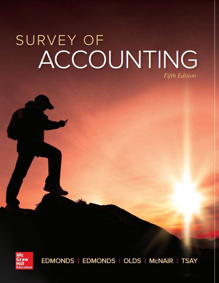 Solution Manual Survey Of Accounting 5th 5E Thomas Edmonds 9781259631122