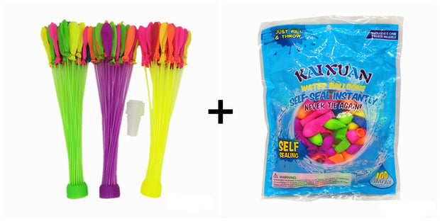 Fast Fill Water Balloons Bunch of Balloons with rapid fill tool and self-seal - allyouting
