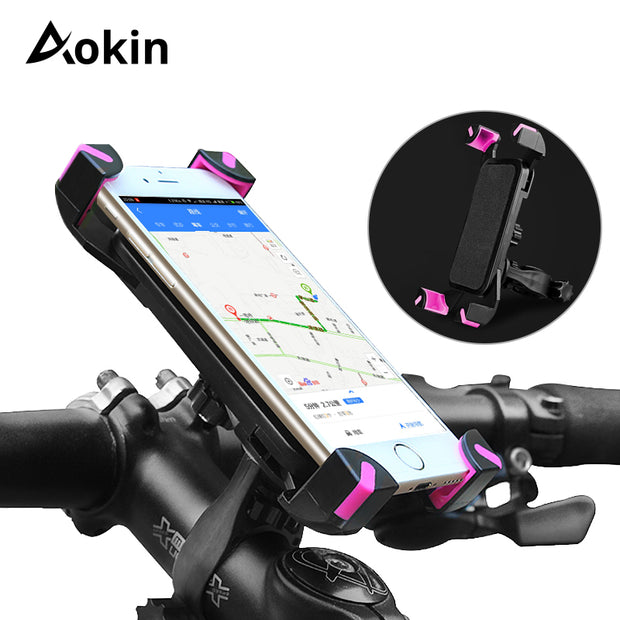 Aokin Universal Bicycle Phone Holder Handlebar Clip Stand - allyouting