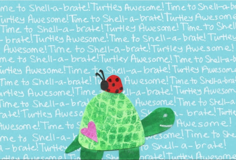 Turtle Shellabrate Blank Card (6-pack)