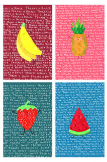 Cute Fruit Blank Notecards (8-pack)