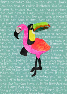 Toucan Flamingo Card (6-pack)