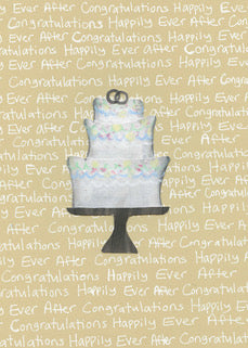 Wedding Cake Card $4.00