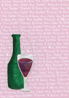 Friends & Wine Blank Card (6-pack)