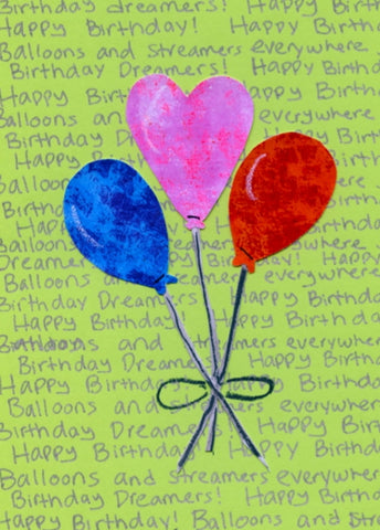 Balloon Bouquet Birthday Card (6-pack)