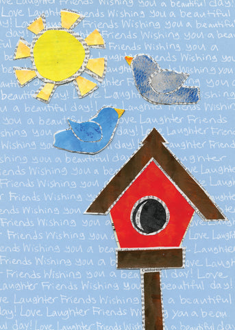 Birdhouse & Bluebirds (6-Pack)