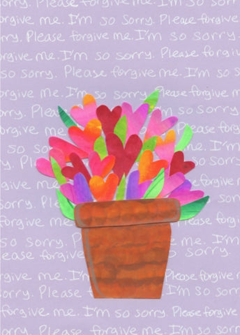 Bouquet Apology Blank Card (6-pack)