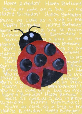 Ladybug Birthday Card (6-pack)