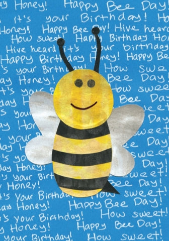 Happy Bee Birthday Card (6-pack)