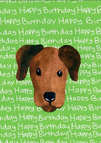 Cocoa Pup Birthday Card (6-pack)