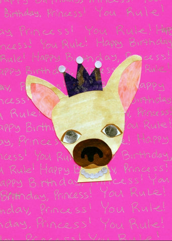 Chihuahua Princess Birthday Card (6-pack)