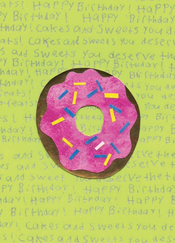 Donut Birthday Card (6-pack)